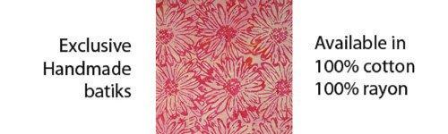 Batiks by Mirah-Salsa Chintz Rose