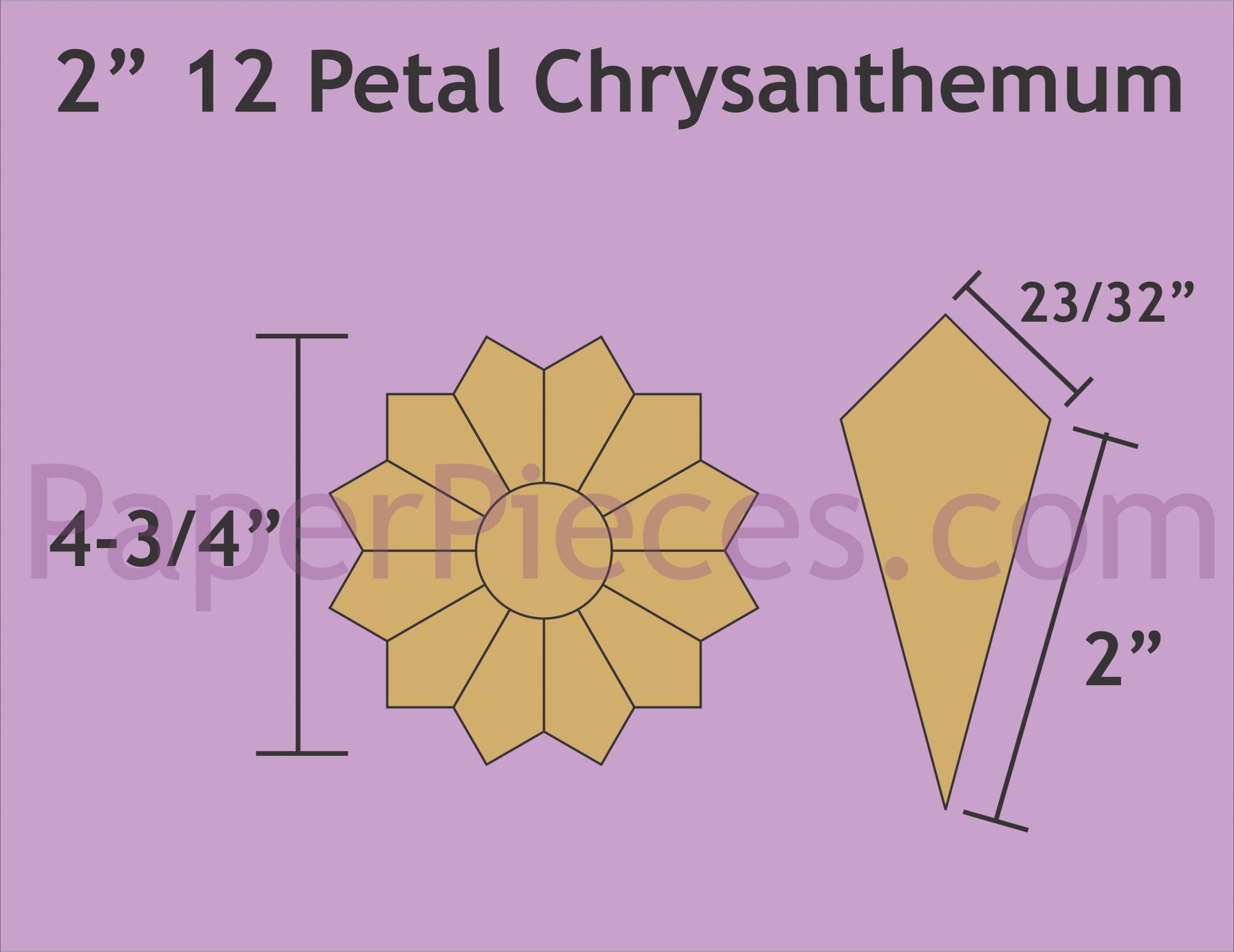 2 12 Petal Chrysanthemum (makes 42 plates)