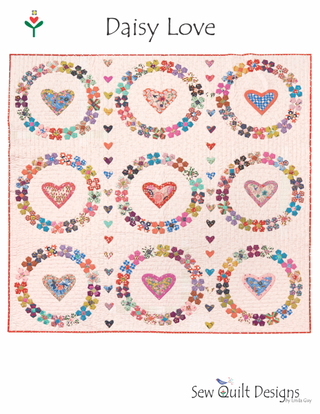 Daisy Love pattern + mylar hearts