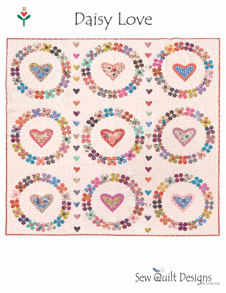 Daisy Love pattern + mylar hearts