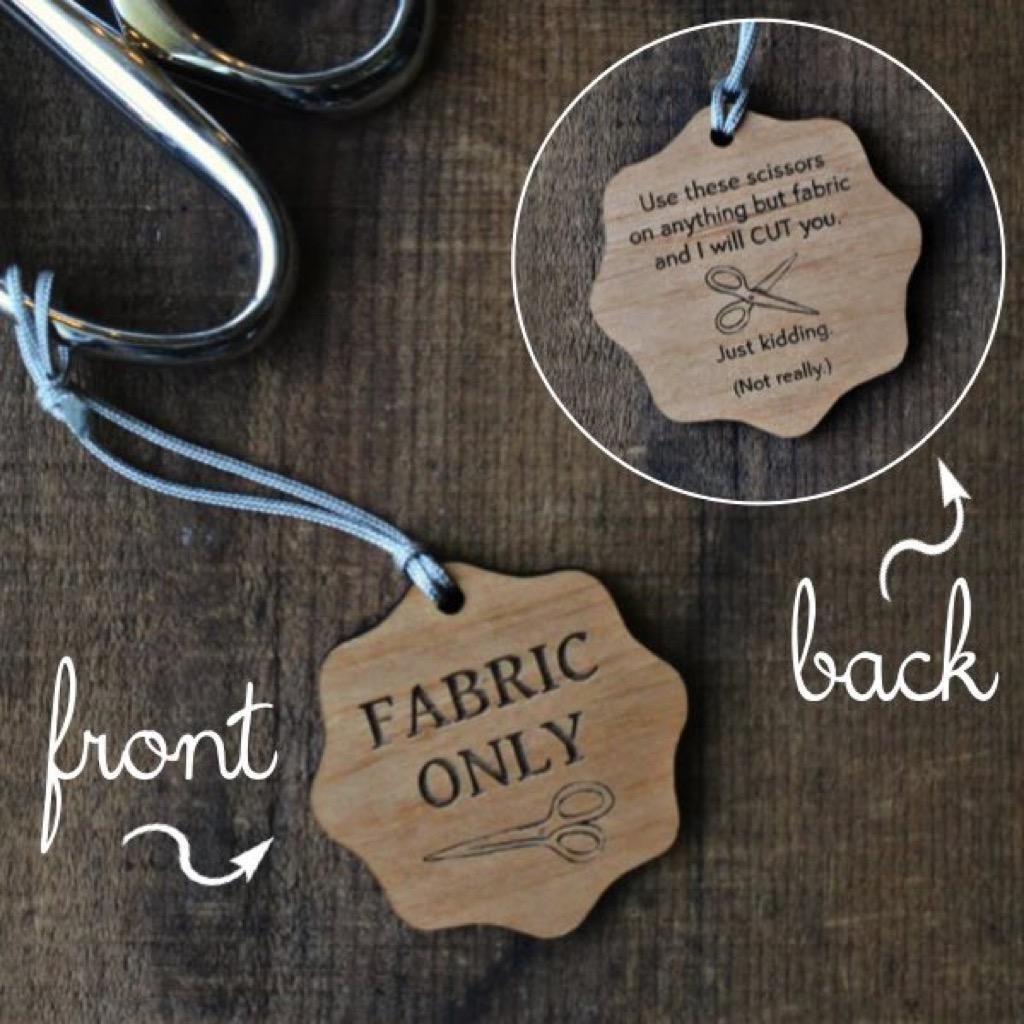 Fabric Only Scissor Fobs