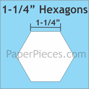 1.25 Hexagons large pack (450 pieces)