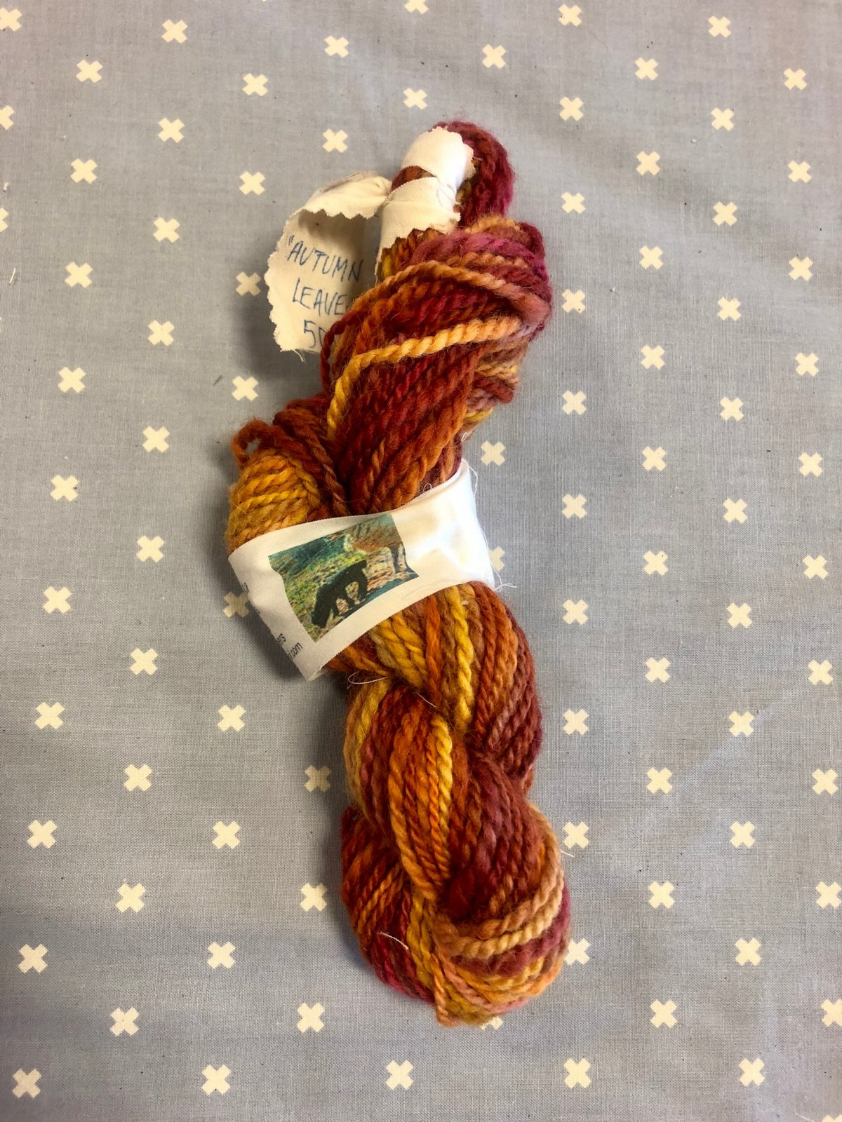 Hand-Dyed Wool, Variegated,  Autumn Leaves