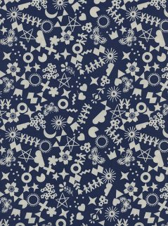 Cotton + Steel Paper Cuts-Cut It Out-Navy