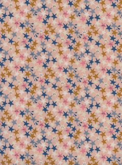 Cotton + Steel Paper Cuts- Starstruck-Peachy