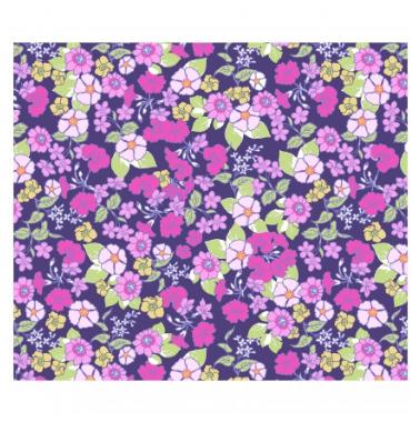 Garden Delights-Pink/Navy