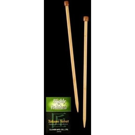 9 inch Clover Takumi Velvet Single Point Knitting Needles