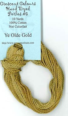 Ye Olde Gold-Perle Cotton 5 by Classic Colorworks
