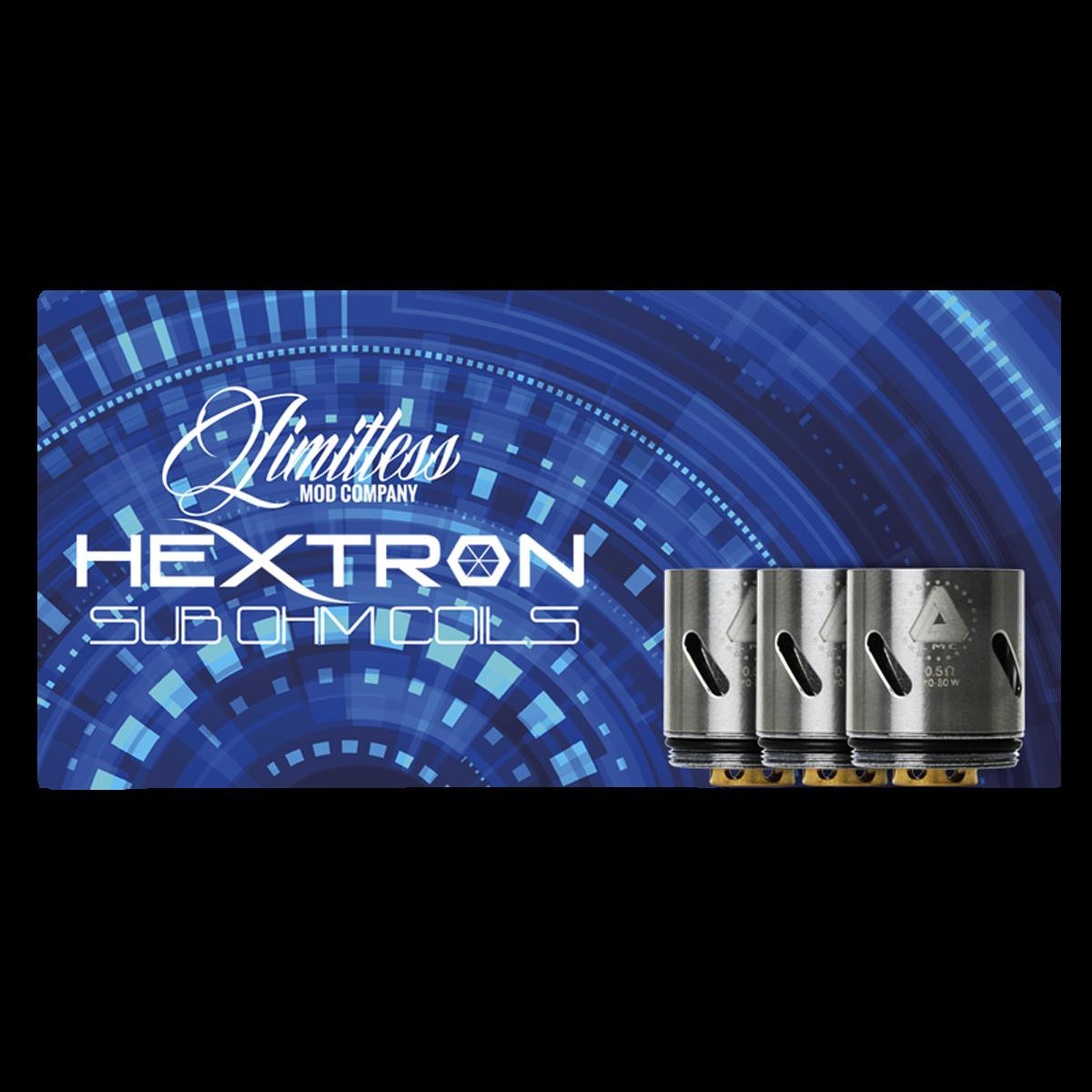 Limitless LMC Hextron Sub Ohm Coils - 0.5 Ohm - Pack of 3