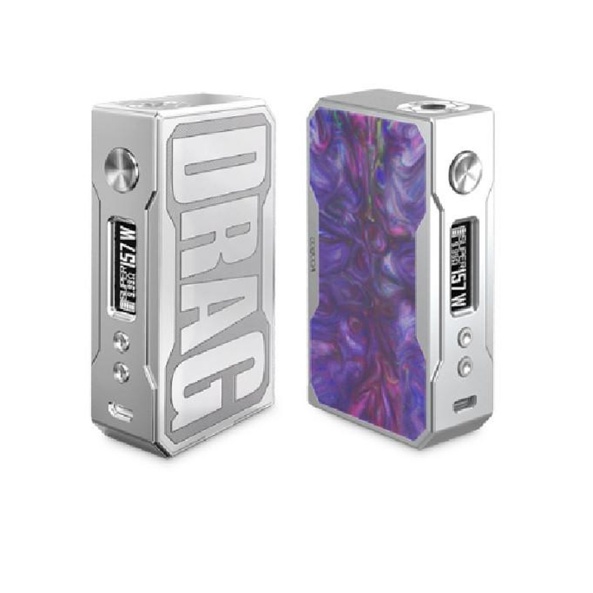 VOOPOO DRAG 157W Resin Silver Version