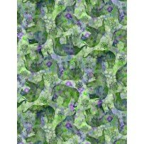 Bohemian Dreams - Tossed Elephants - Green/Purple