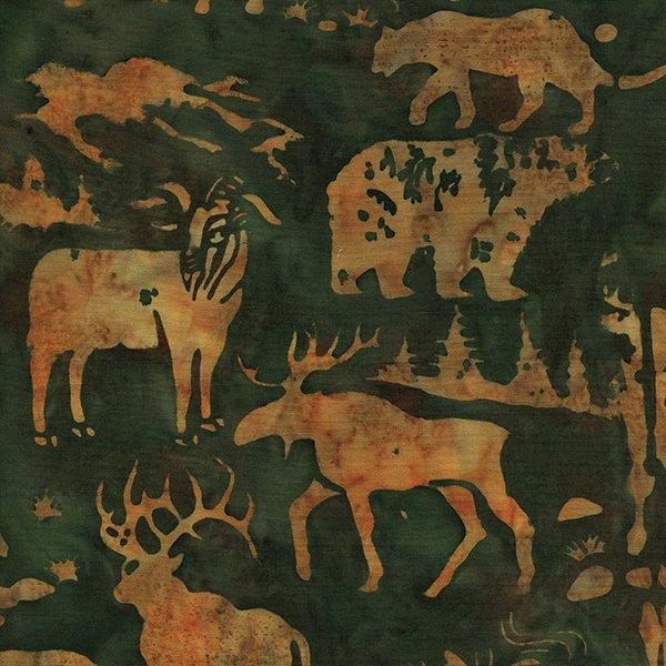 IB-Green w/Brown Animals