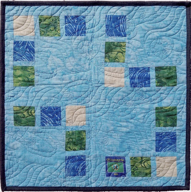 Treasure Map - Quilter's Trek 2020 Design