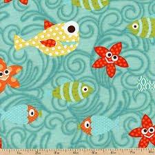 Here Fishy Fishy - teal w/fish