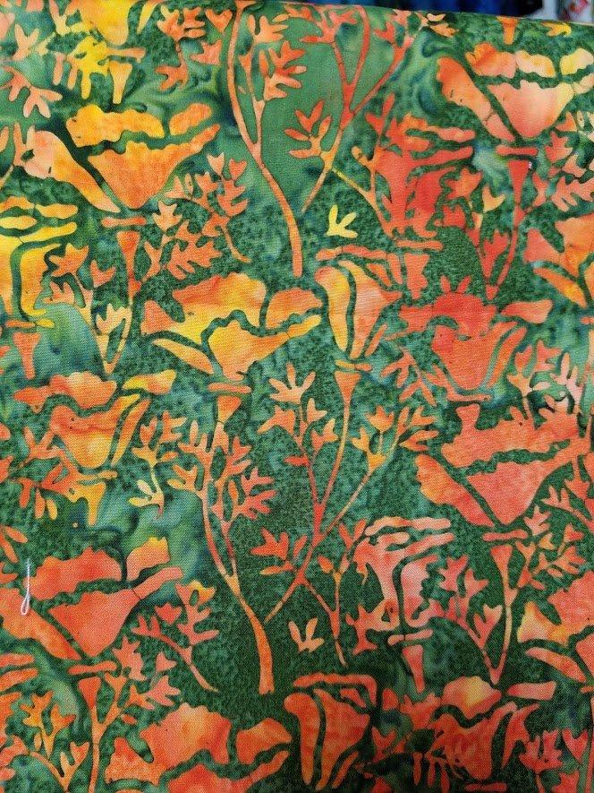 Batik - California Poppy