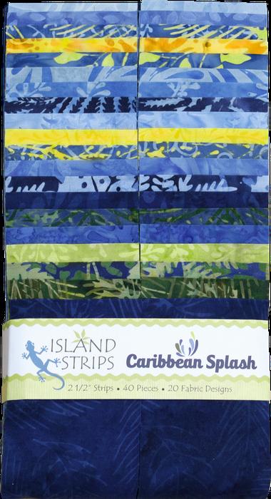 Island Batik - 2.5 strips - Caribbean Splash