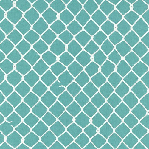 Hoffman Fabrics - Grafic - Aqua - Fence