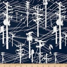 Hoffman Fabrics - Grafic - Navy - Power Lines