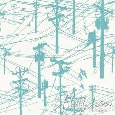 Hoffman Fabrics - Grafic - Aqua Power Lines