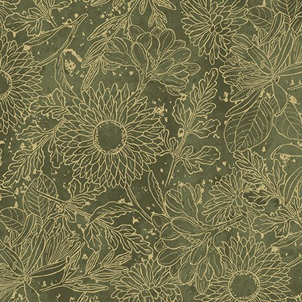 Wilmington Prints - Vintage Garden- Green Toile