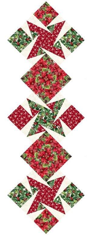 Pieceful Stars Pattern, Fabric Kit - Bouquet