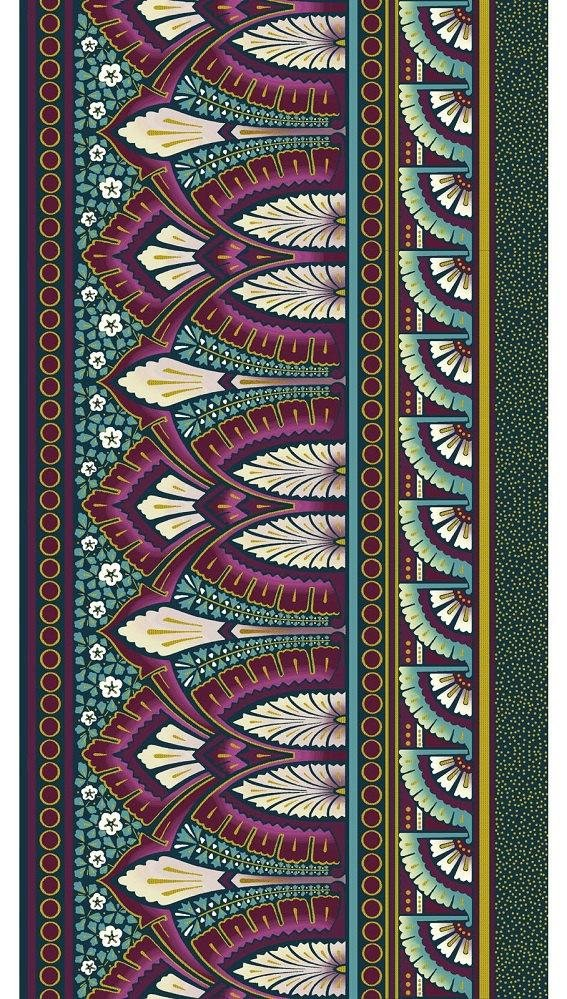 Deco Elegance - Border Stripe - Fuchsia