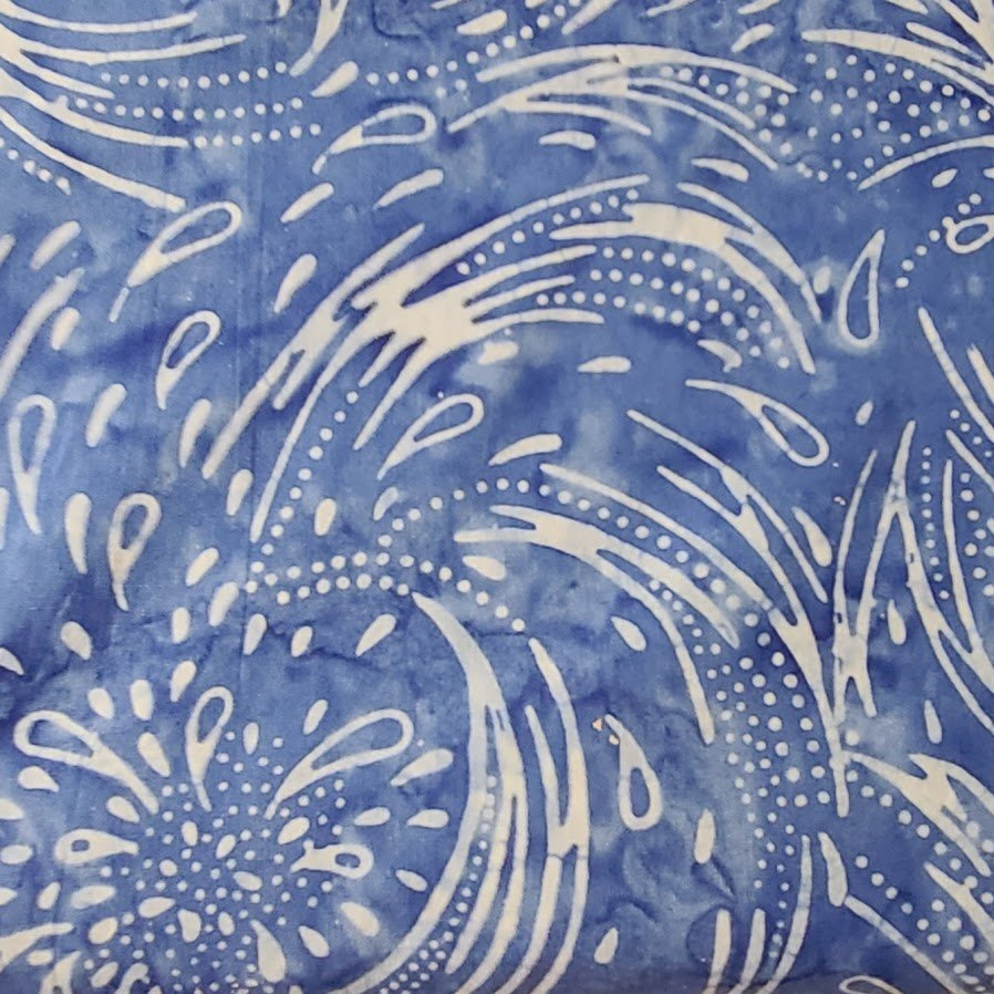 Galaxy Java Batiks - Med Blue Splash