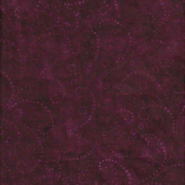 Java Batiks - Maroon Swirl