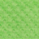 Minky Dots -  Bright Lime