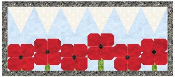 Poppy Dance Party KIT w/framing fabric