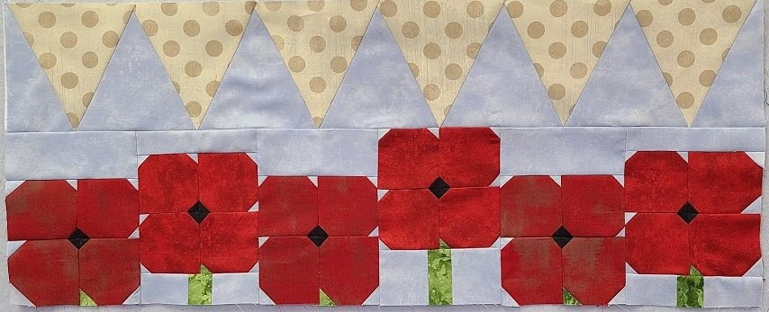 Poppy Dance Party KIT w/framing fabric