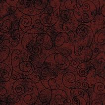 Westrade Textiles - Flannel Wide back - Red Scrolls