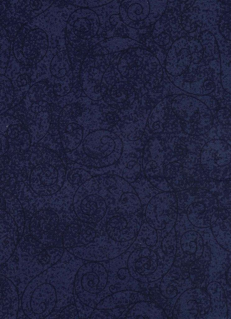 Westrade Textiles - Flannel - Willow - Navy