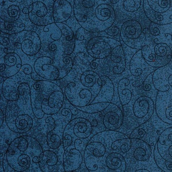 Westrade Textiles - Flannel Wide back - Willow - Denim