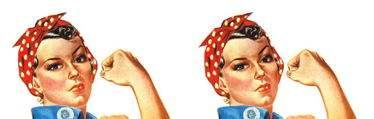 Rosie the Riveter - Face & Arm