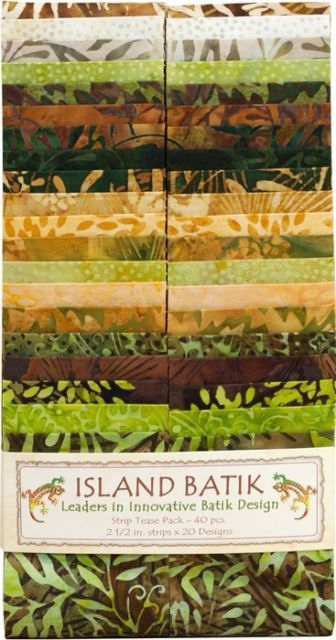 Island Batik - 2.5 Strips - Wheat Grass