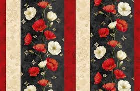 Poppy Celebration - Border Stripe
