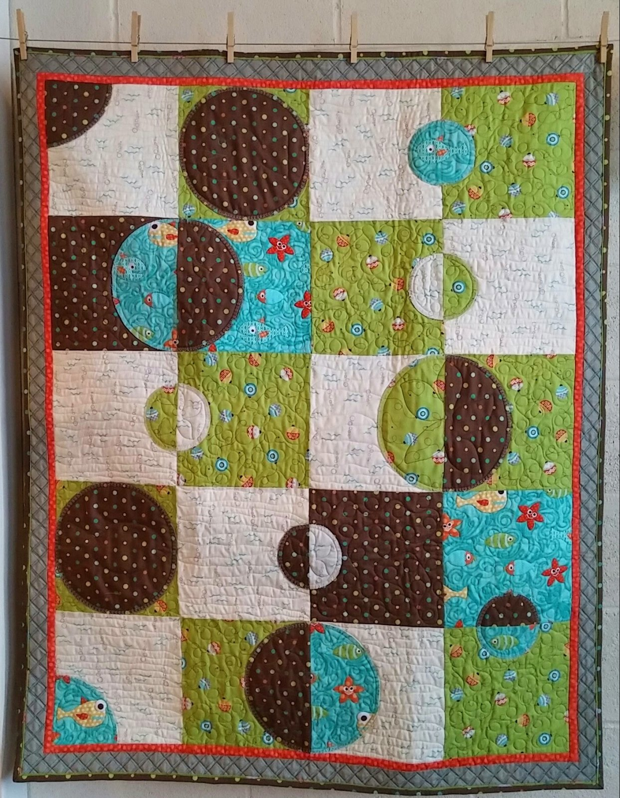 Here Fishy Fishy - Zoe Baby Quilt Kit