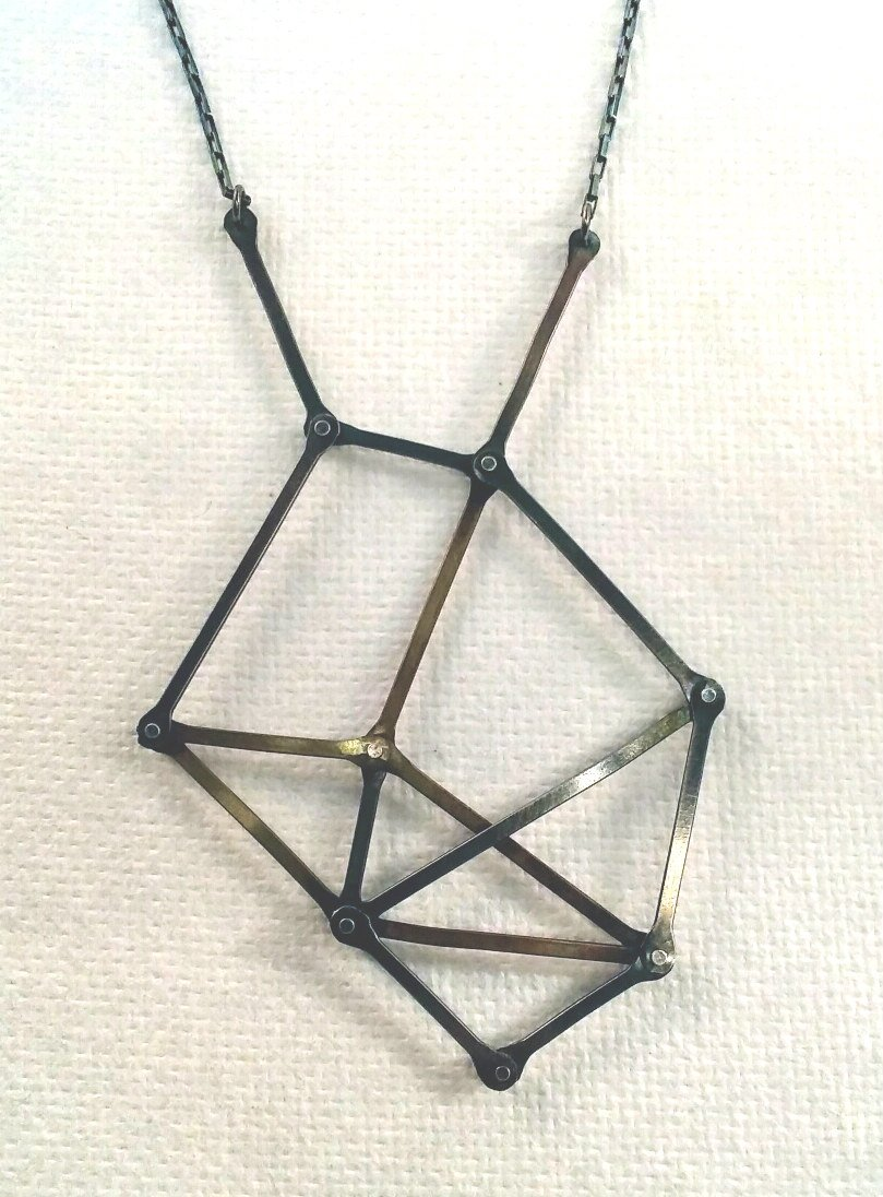 Dark Geometric Pendant Necklace