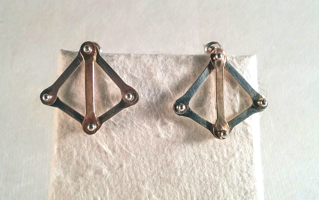 Dark Crossbow Post Earrings