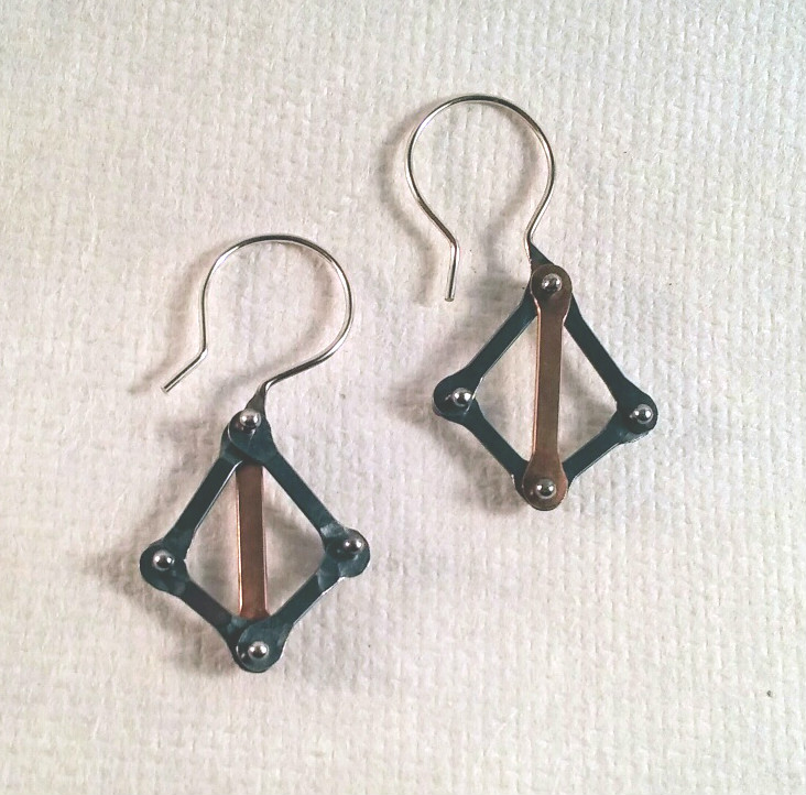 Dark Crossbow Hook Earrings
