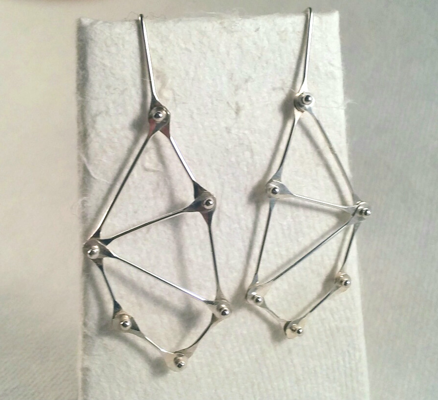Brite Geometric Silver Earrings