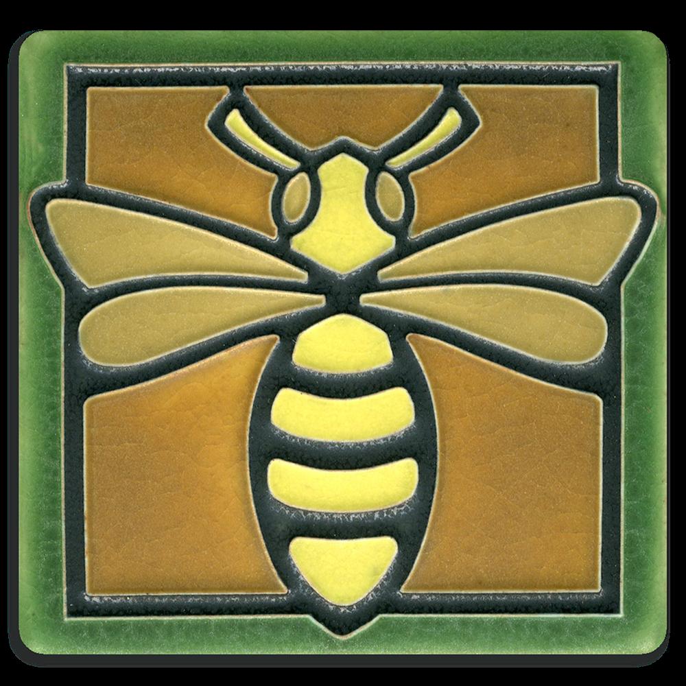 Bee 4X4 Tile in Green
