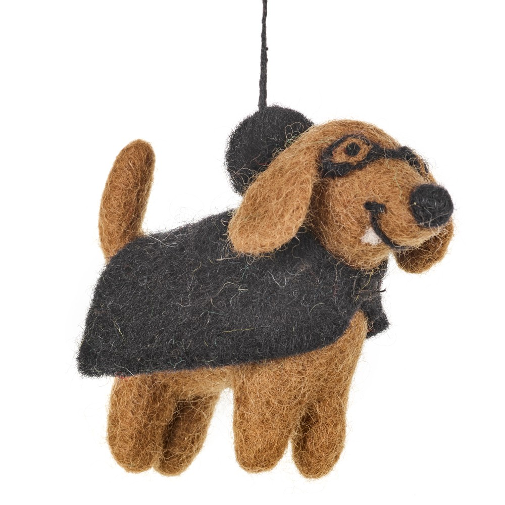 Fang Vampire dog Felt Ornament