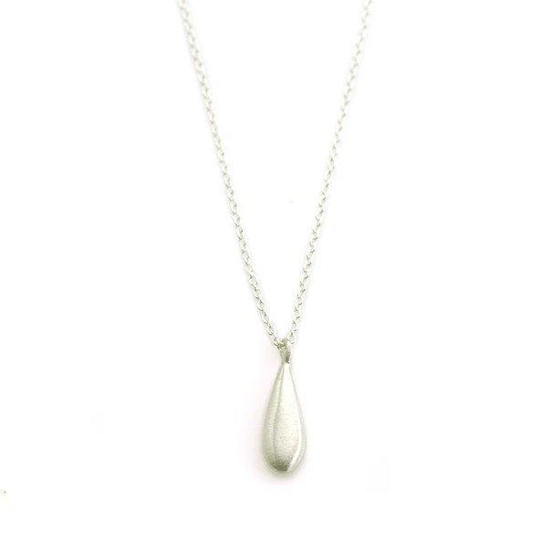 Tiny Drop Silver Necklace