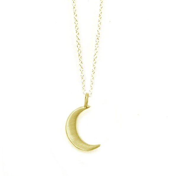 Small Moon Vermeil Necklace