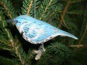 Cerulean Blue Warbler Carving