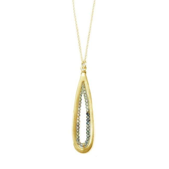Sapphire Vermeil Teardrop Necklace