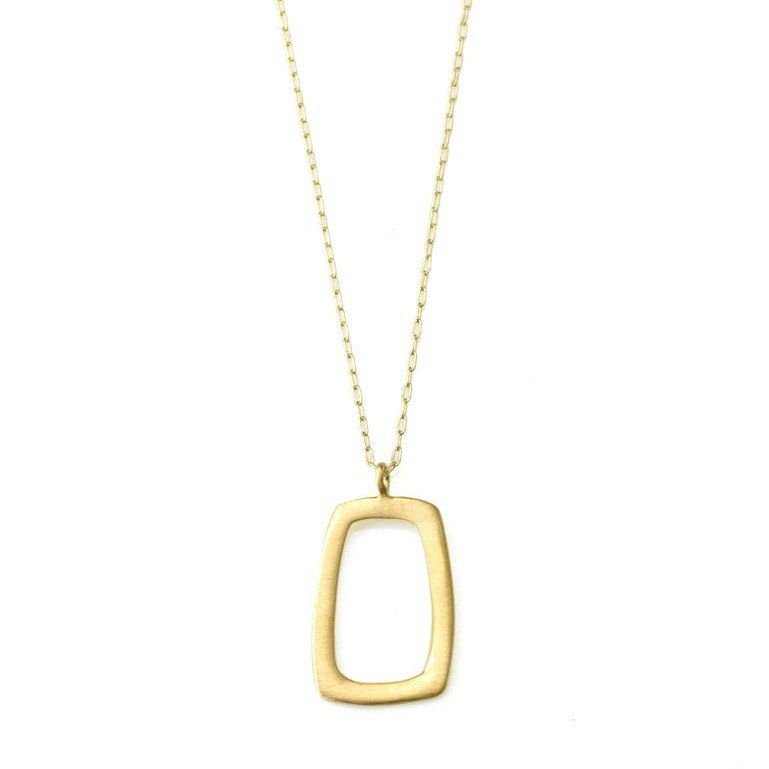 Small Vermeil Rectangle Necklace