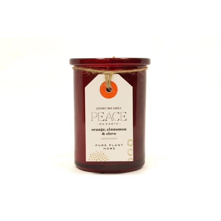 Orange/Cinnamon/Clove Glass Candle